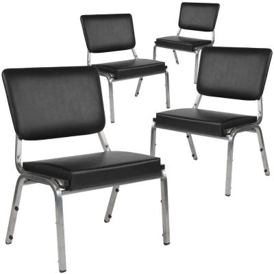 Black Vinyl Bariatric Vinyl Side Chair (Set of 4)
