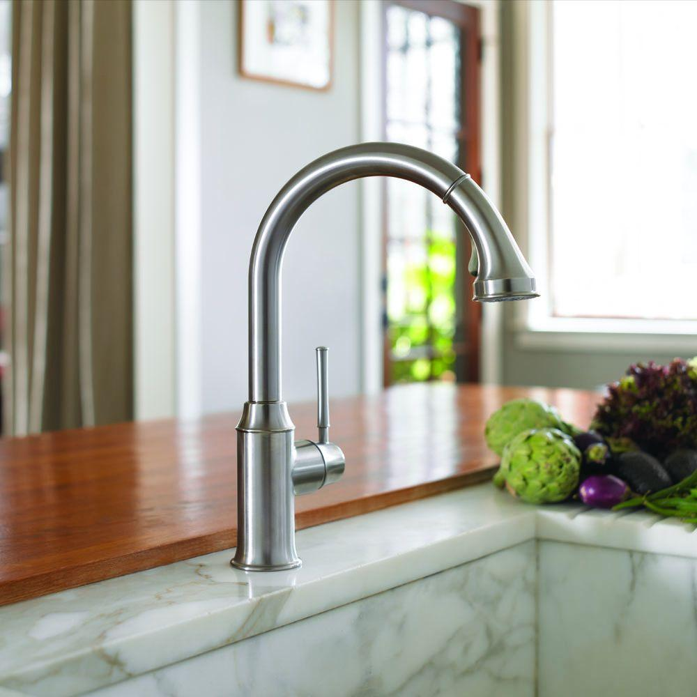 Hansgrohe Talis C Pull Down Kitchen Faucet with Magnetic Docking ...