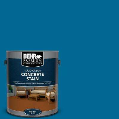 1 gal. #OSHA-1 OSHA SAFETY BLUE Solid Color Flat Interior/Exterior Concrete Stain