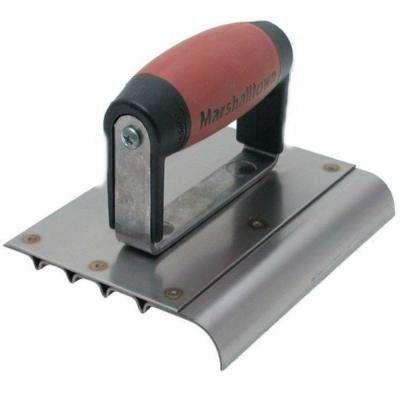 6 in. x 5 in. Stainless Steel Safety Edger 1/2 in. radius 5/8 in. lip 4 Grooves DuraSoft handle