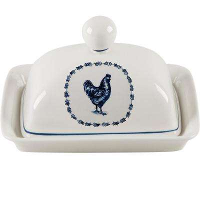7 in. Duck Butter Dish with Lid