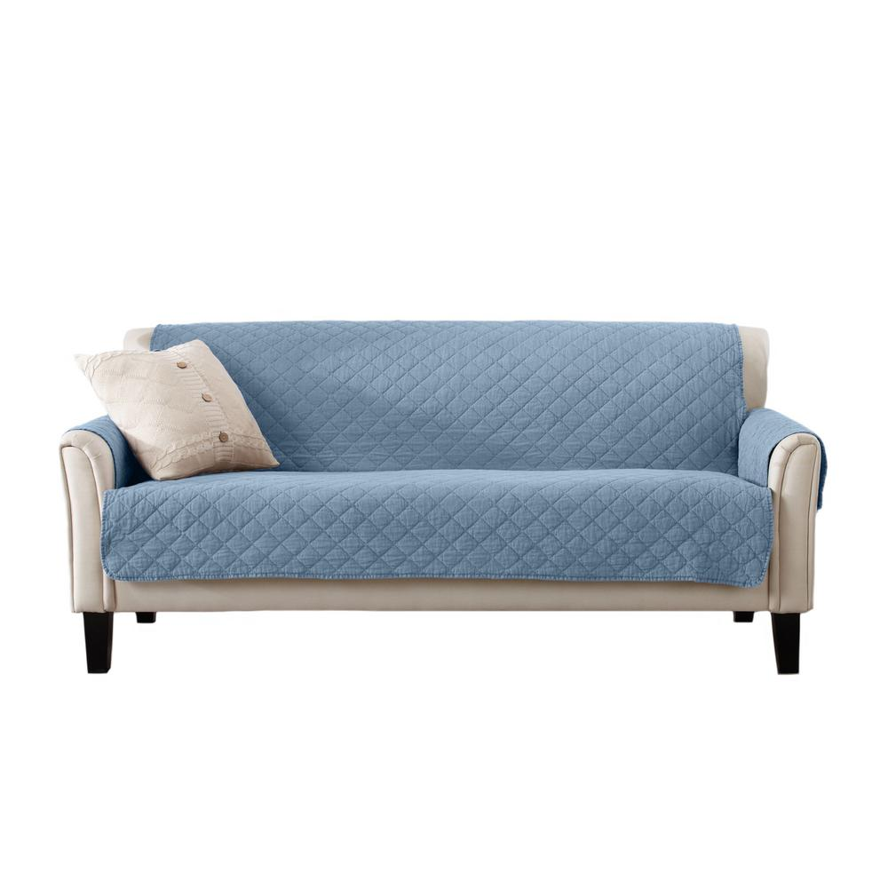 Great Bay Home Laurina Collection Delphium Blue Stonewashed