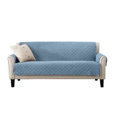 Laurina Collection Delphium Blue Stonewashed Reversible Sofa Furniture Protector