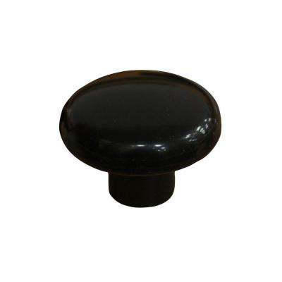 1-1/2 in. (38 mm) Black Plastic Cabinet Knob