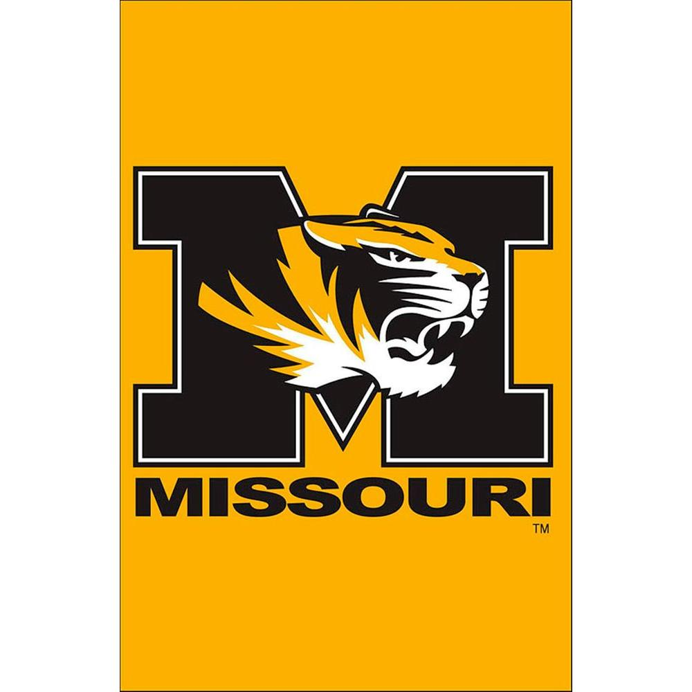 NCAA 12-1/2 in. x 18 in. Missouri 2-Sided Garden Flag