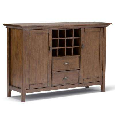 Redmond Rustic Natural Aged Brown Buffet with Wine Storage