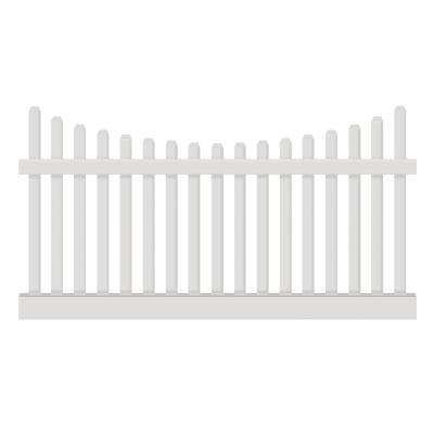 Hampshire 3 ft. H x 8 ft. W White Vinyl Picket Fence Panel Kit