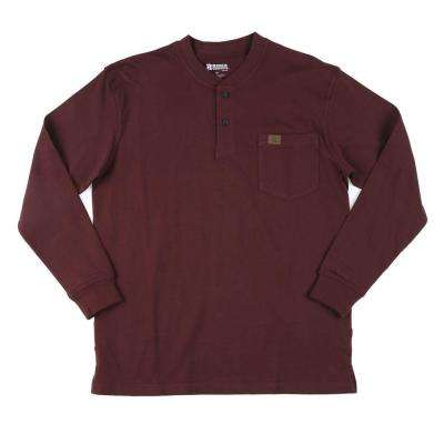 X-Large Men's Long Sleeve Henley