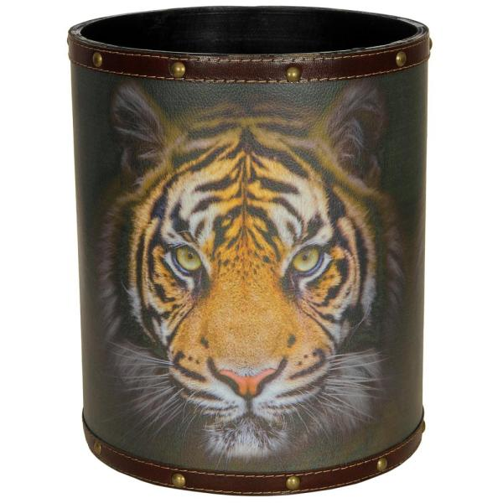 Oriental Furniture Oriental Furniture 8.25 in. x 10 in. Bengal Tiger Waste Basket