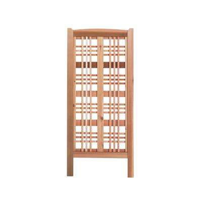 59 in. Claremont Cedar Landscape Screen Trellis (3-Pack)