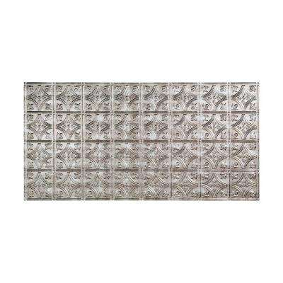 Traditional 1 - 2 ft. x 4 ft. Glue-up Ceiling Tile in Crosshatch Silver