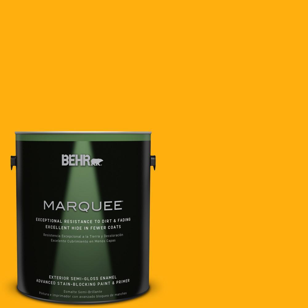 BEHR MARQUEE 1-gal. #310B-7 Saffron Thread Semi-Gloss Enamel Exterior Paint