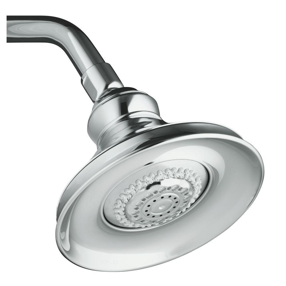 kohler rain shower head canada forte 3spray in showerhead in brushed chrome shower heads. Black Bedroom Furniture Sets. Home Design Ideas