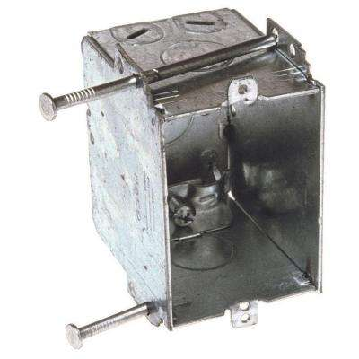 2-27/32 in. Deep Welded Switch Box with NMSC Clamps, Plaster Ears and Nails (20-Pack)