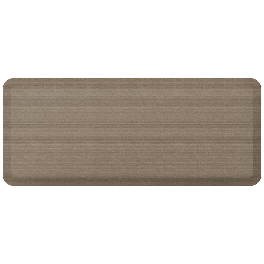 Designer Grasscloth Pecan 20 in. x 48 in. Anti-Fatigue Comfort Kitchen Mat
