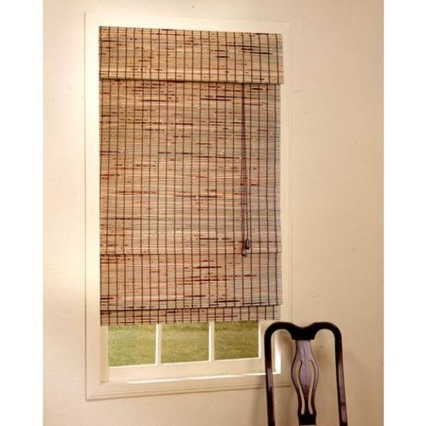 designview Natural Kiawah Bamboo Roman Shade-DISCONTINUED