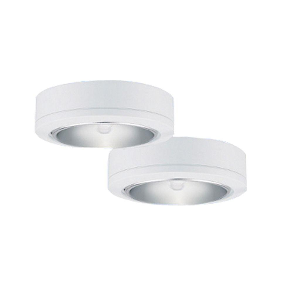 Sea Gull Lighting Ambiance 2-Light White Low Voltage Disk