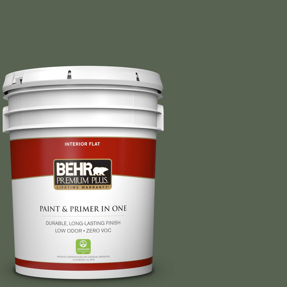 5 gal. #BXC-06 Amazon Foliage Zero VOC Flat Interior Paint