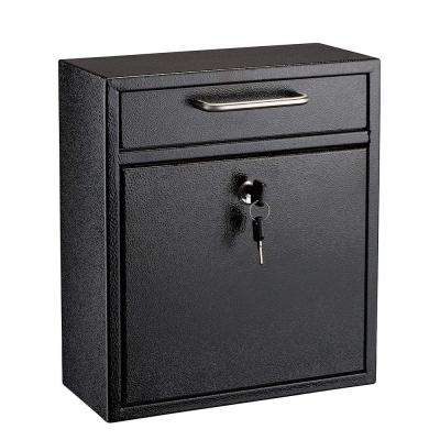 Medium Ultimate Black Wall Mounted Mail Box