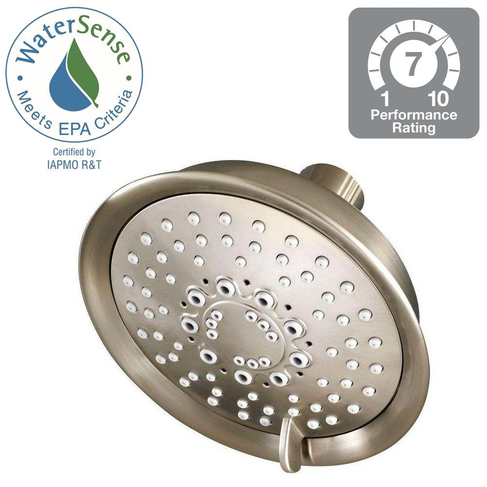 Pfister Universal 5.5 in. 5-Spray Fixed Shower Head in Brushed ...
