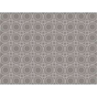 18 in. Gray Geometric Adhesive Shelf Liner