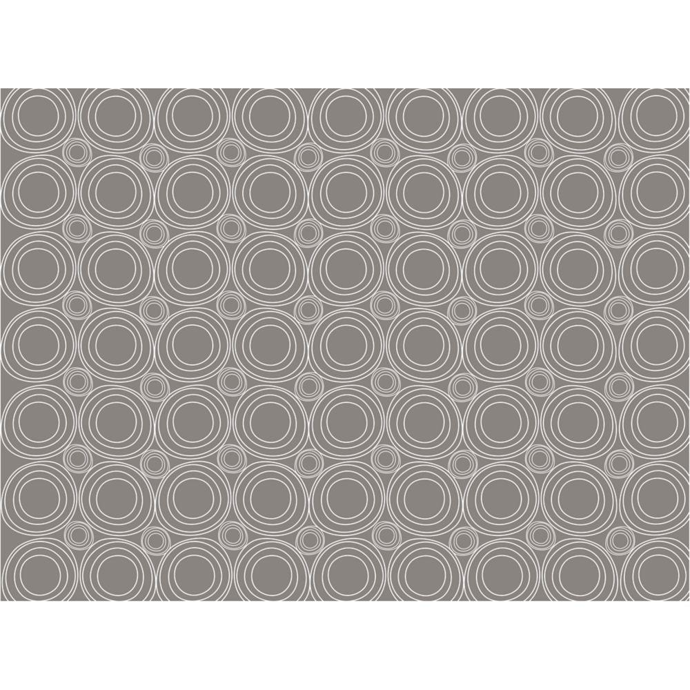 18 in. Gray Geometric Adhesive Shelf Liner