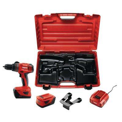 22-Volt Lithium-Ion 1/2 in. Cordless Hammer Drill Driver SF 6H with Kit Box