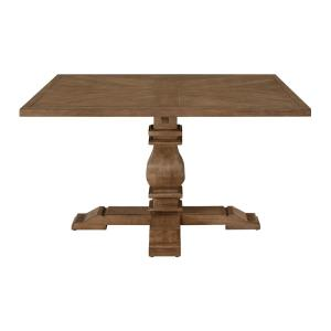 Eldridge - Pedestal Dining Table with Square Top in Haze