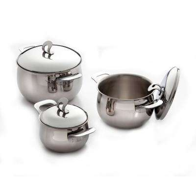 4 Qt. 18/10 Stainless Steel Stockpot with Lid and Sandwich Base
