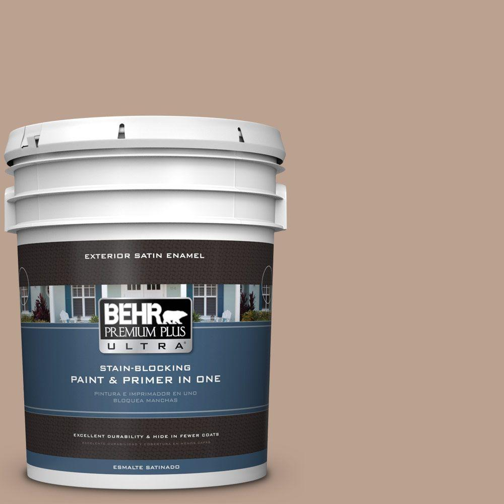 BEHR Premium Plus Ultra 5-gal. #T15-17 Mocha Foam Satin Enamel Exterior Paint