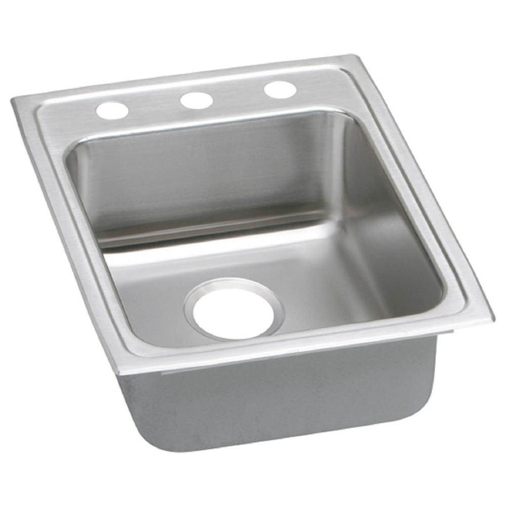 drop in stainless steel kitchen sinks elkay lustertone drop in stainless steel 17 in 2 9626