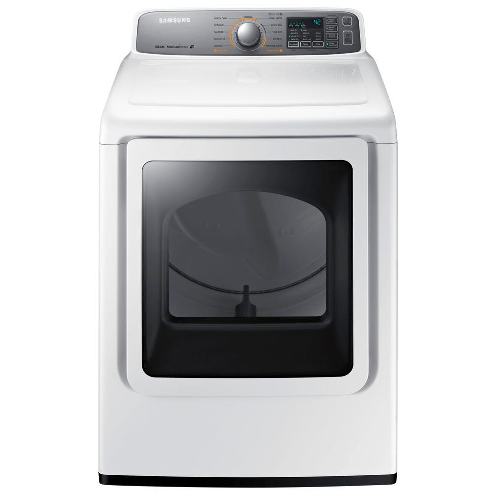Samsung 7.4 cu. ft. Electric Dryer with Steam in White