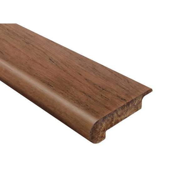 Hazelnut Strand Woven Bamboo Hazelnut 0.690 in. Thick x 30.25 in. Wide x 72 in. Length Bamboo Overlap Stair Nose Molding