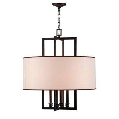Cathedral 4-Light Rust Pendant with Shade