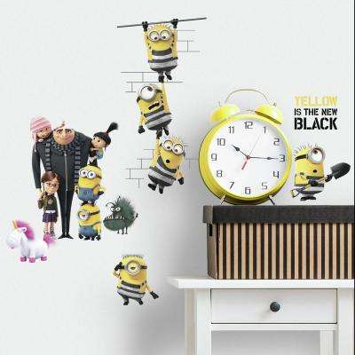 5 in. x 11.5 in. Despicable Me 3 17-Piece Peel and Stick Wall Decals