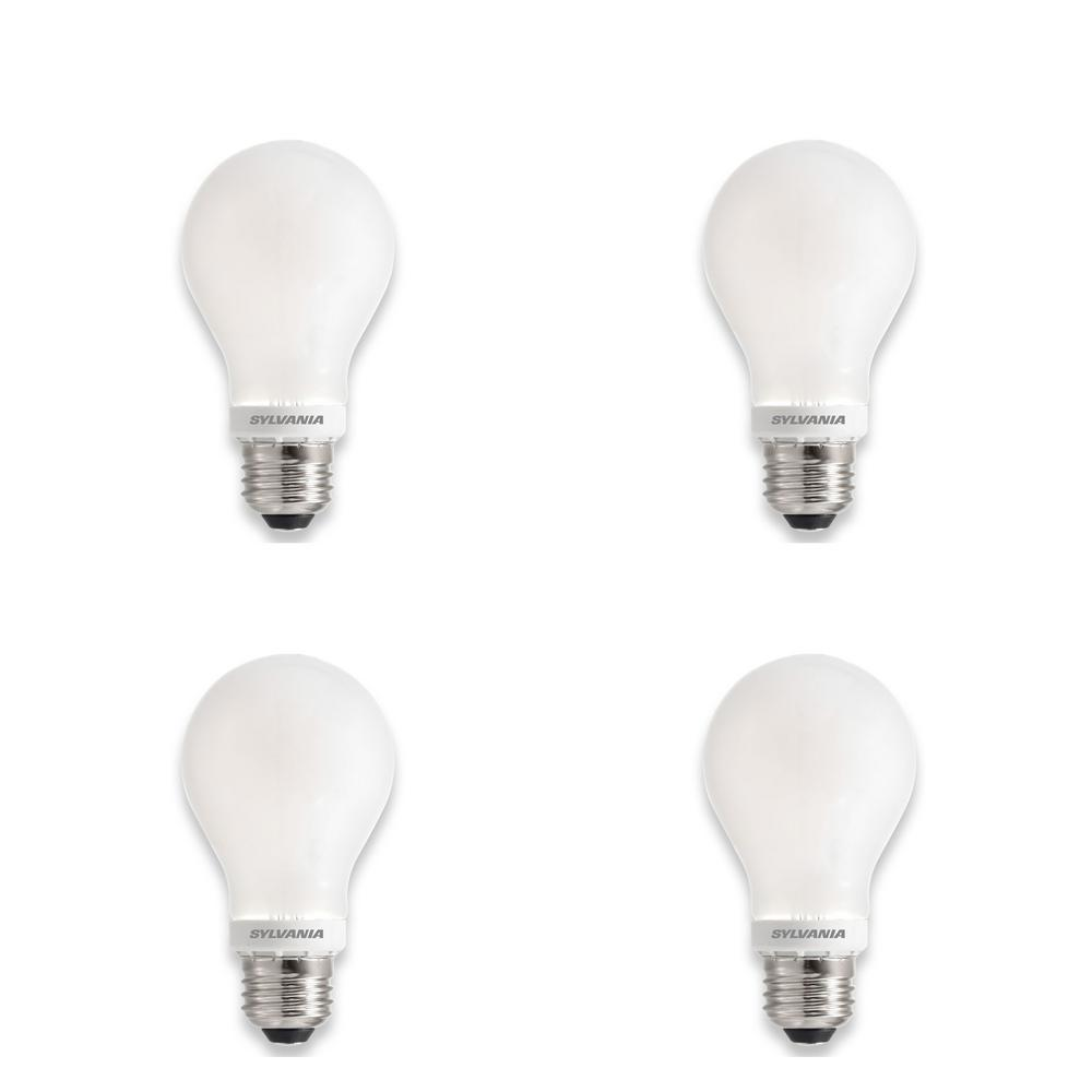 Sylvania 60 Watt Equivalent A19 Dimmable Energy Saving Household Led Light Bulb Daylight 4 Pack