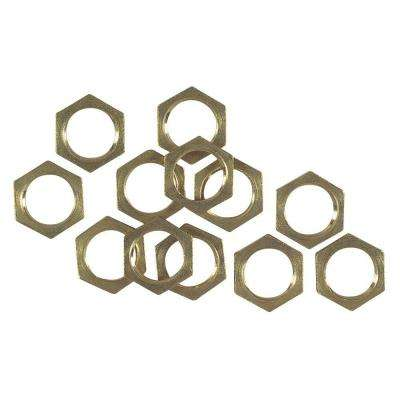 Solid Brass Hex Nuts (12-Pack)
