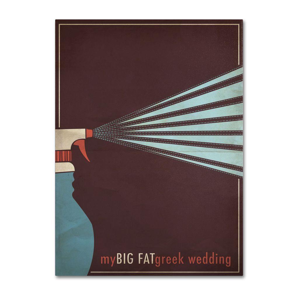 Trademark Fine Art 30 In X 47 My Fat Green Wedding Canvas