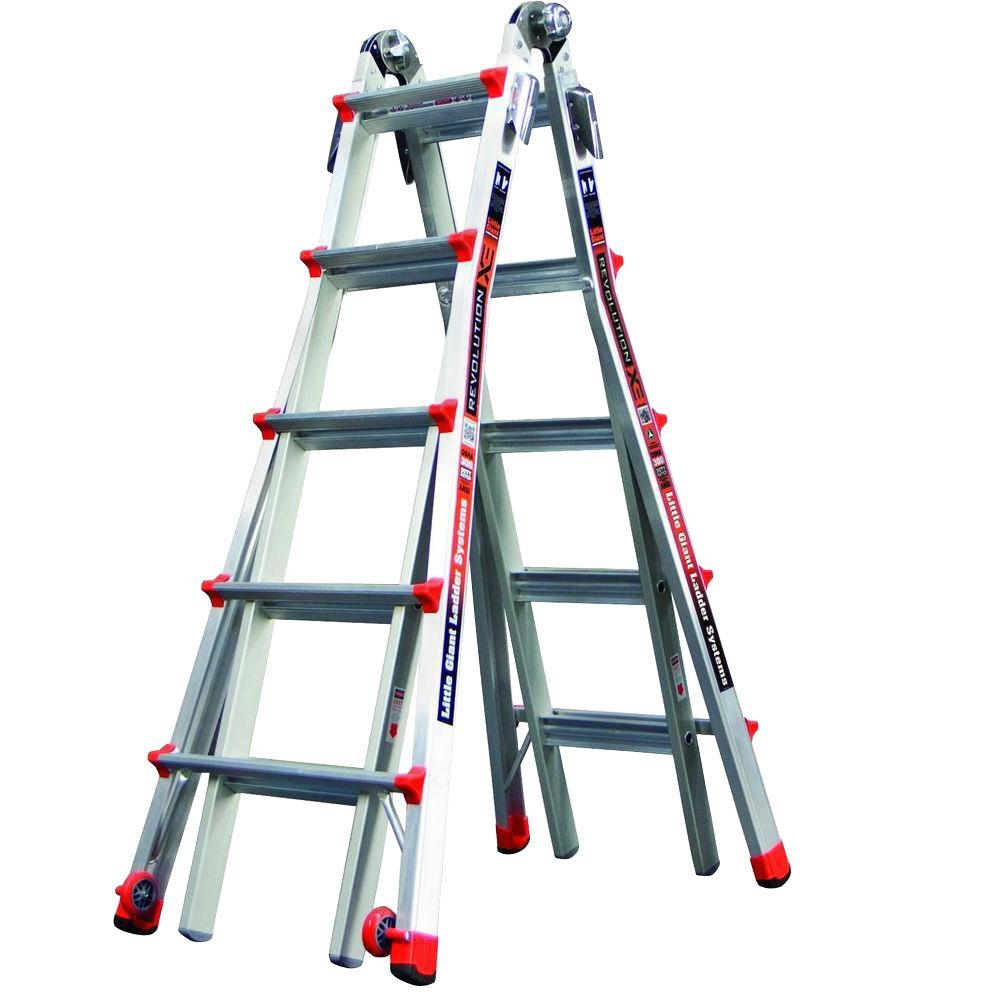 Revolution 22 ft. Aluminum Multi-Position Ladder with 300 lb. Load Capacity Type IA Duty Rating