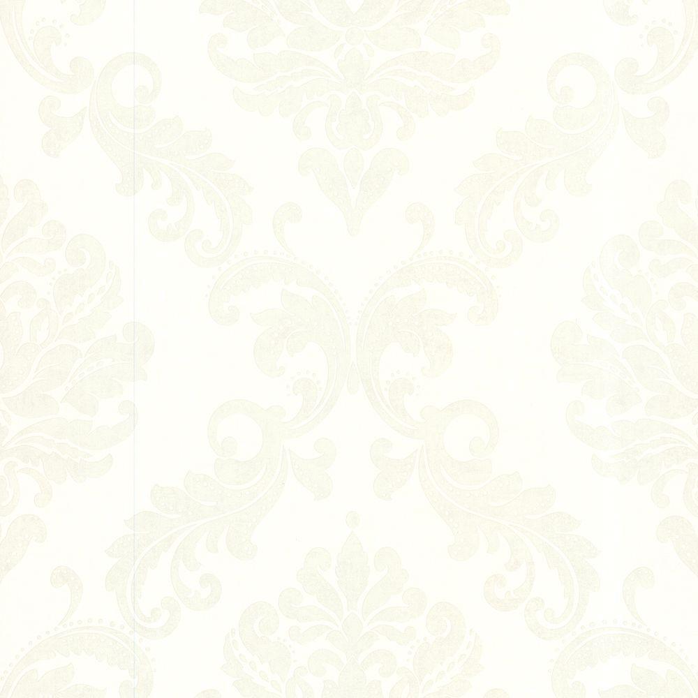 Sebastion Off-White Damask Wallpaper