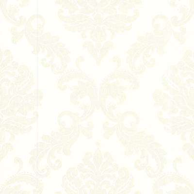 Sebastion Off-White Damask Wallpaper