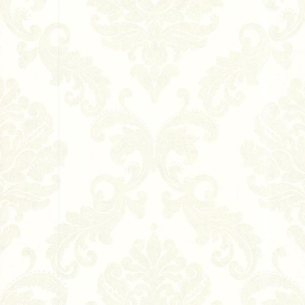 Sebastion Cream Damask Paper Strippable Roll Wallpaper (Covers 56 sq. ft.)