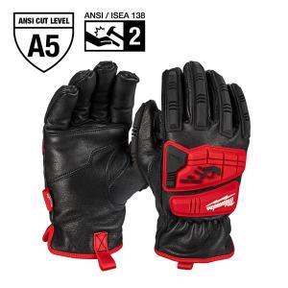 XX-Large Level 5 Cut Resistant Goatskin Leather Impact Gloves