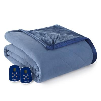 Reverse to Ultra Velvet King Indigo Electric Comforter/Blanket