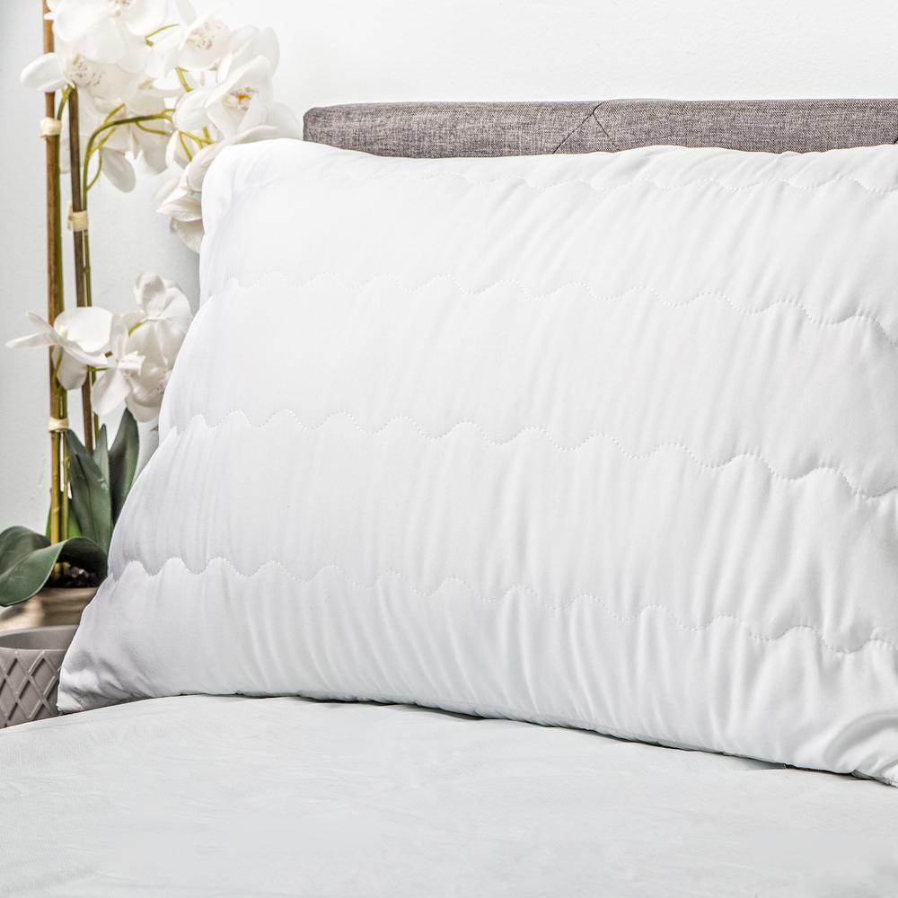20 in. W x 30 in. L in White Zade Waterproof Pillow Protector