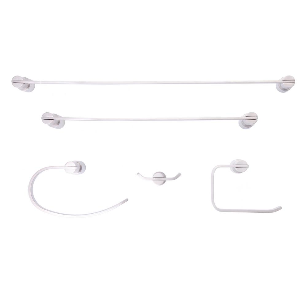 Daytona Series Double Robe Hook in Brushed Nickel
