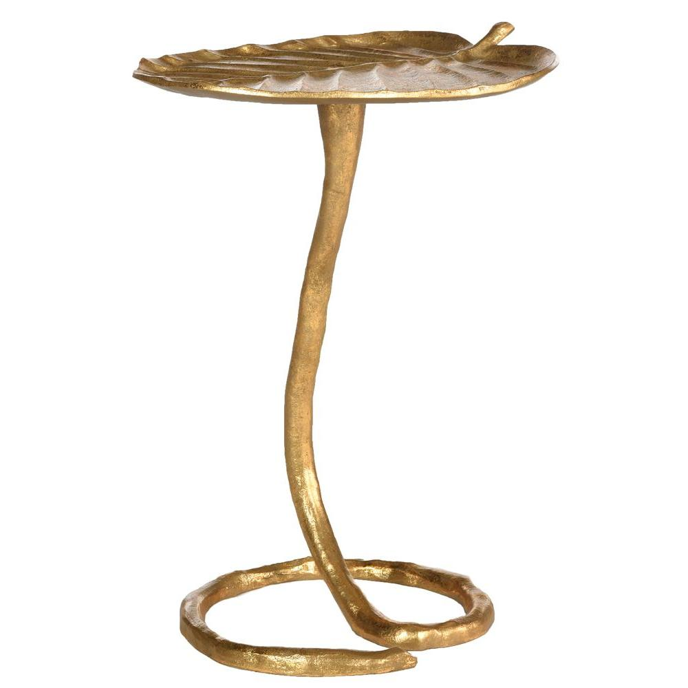 Safavieh Mina Gold Side Table Fox3246a The Home Depot