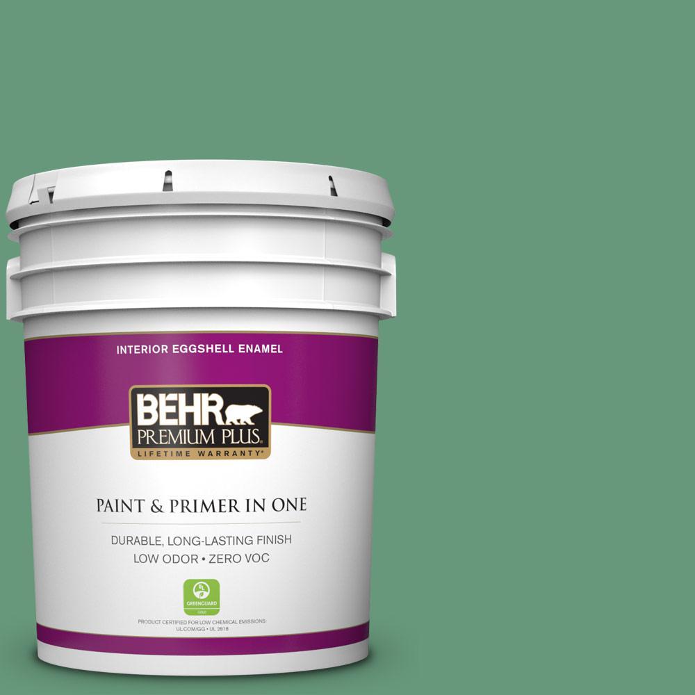 5 gal. #470D-5 Herbal Zero VOC Eggshell Enamel Interior Paint