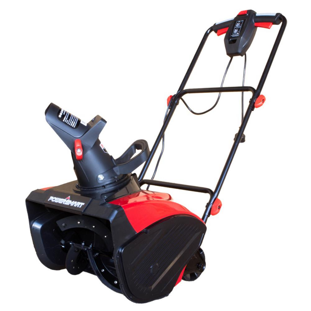 Powerful Handheld Electric Snow Blowers : Powersmart in amp corded electric snow blower