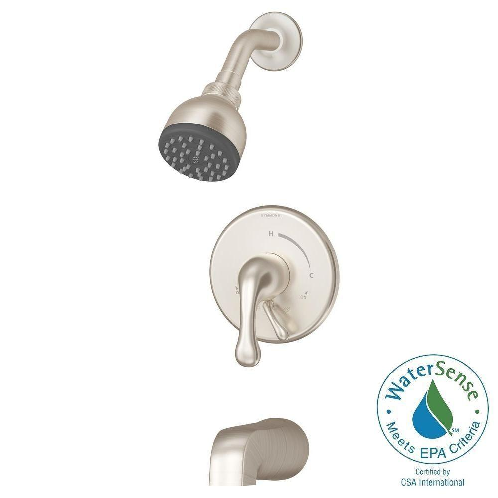 Symmons Unity Single-Handle 1-Spray Tub and Shower Faucet...